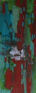 Sans Titre (2016) : Acrylique sur Papier   135 x 53 cm.