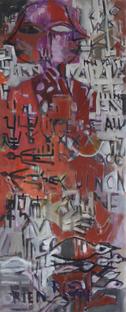 Tapis de Marriage (2016) : Acrylique sur Papier   133 x 53 cm.