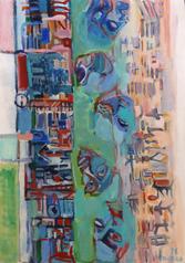El Piel Que Habito (2016) : Acrylique sur Papier   110 x 75 cm.