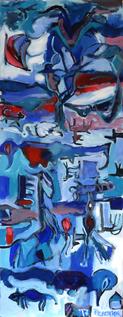 Tapid d'Hiver (2017) : Acrylique sur Papier   138 x 52 cm.
