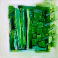 Sans Titre (2004) : technique mixte sur Toile   50 x 50 cm.