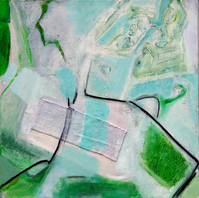 Sans Titre (2006) : technique mixte sur Toile   50 x 50 cm.