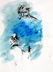 Sans Titre (1994) : technique mixte sur Papier   41 x 30 cm.