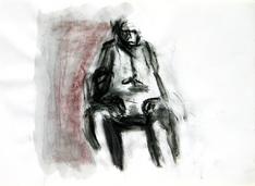 Sans Titre (1994) : technique mixte sur Papier   30 x 41 cm.