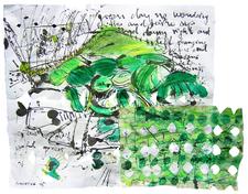 Greenday no wondering (2005) : technique mixte sur Papier   23 x 31 cm.