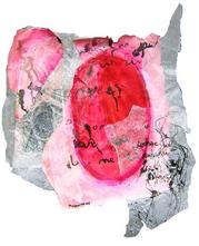 Where God put his dirty finger (2005) : technique mixte sur Papier   38 x 30 cm.