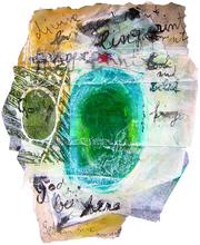 God has been here (2005) : technique mixte sur Papier   27 x 21 cm.