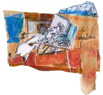Travels to paradise (2005) : technique mixte sur Papier   38 x 40 cm.