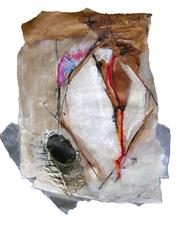 Forbidden path (2005) : technique mixte sur Papier   32 x 27 cm.
