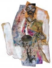 Narrow pass (2005) : technique mixte sur Papier   32 x 25 cm.