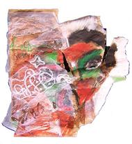 Death (2005) : technique mixte sur Papier   34 x 34 cm.