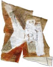 Heat (2005) : technique mixte sur Papier   40 x 37 cm.