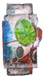 Don't forget (2005) : technique mixte sur Papier   34 x 19 cm.