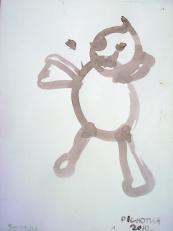 Bonhomme (2010) : Encre sur Papier   32 x 24 cm.