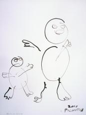 Grand et petit (2010) : Encre sur Papier   32 x 24 cm.