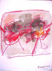 Frère et soeur (2010) : Encre sur Papier   32 x 24 cm.