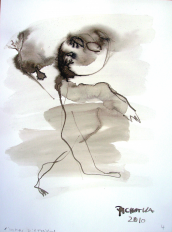Homme d'affaires (2010) : Encre sur Papier   32 x 24 cm.