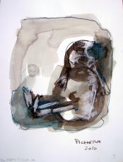 Do sous l'escalier (2010) : Encre sur Papier   32 x 24 cm.