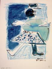 Epouvantail (2010) : technique mixte sur Papier   32 x 24 cm.