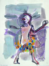 M. Jackson (2010) : technique mixte sur Papier   32 x 24 cm.