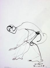 Scanarelle (2010) : Encre sur Papier   32 x 24 cm.