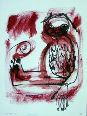Le petit (2010) : technique mixte sur Papier   32 x 24 cm.