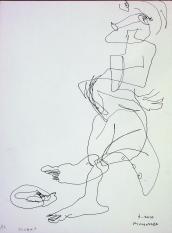 Le chat (2010) : Encre sur Papier   32 x 24 cm.