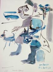 Mama Blues (2010) : Encre sur Papier   32 x 24 cm.
