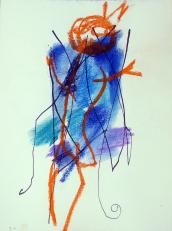 Diable (2010) : technique mixte sur Papier   32 x 24 cm.