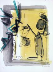 Reflet (2010) : technique mixte sur Papier   32 x 24 cm.