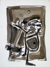 La brosse à dent (2010) : Encre sur Papier   32 x 24 cm.